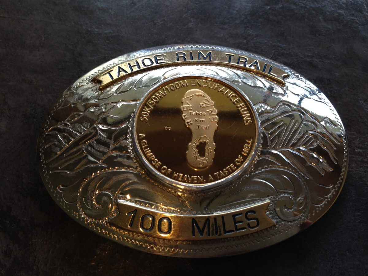Tahoe Rim Trail 100 Gold Finisher's Buckle