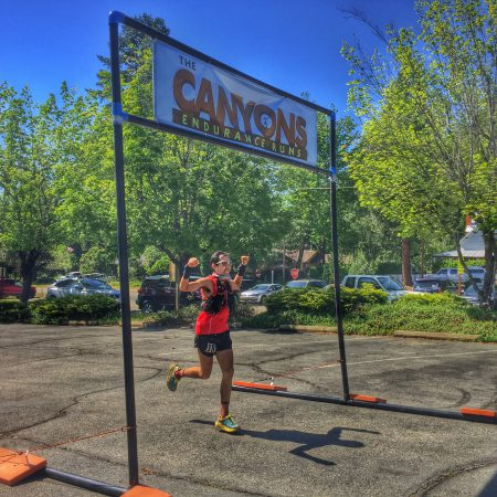 2nd place finisher in the 100k. Photo by Jenelle Potvin