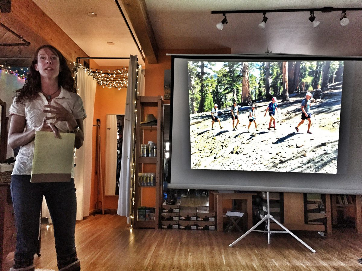 May Ed Series presentation by Gretchen Brugman. Photo by Jenelle Potvin (photo in picture by Chaz Sheya)