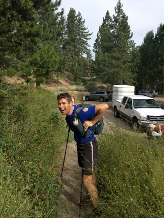 Sean at the finish!