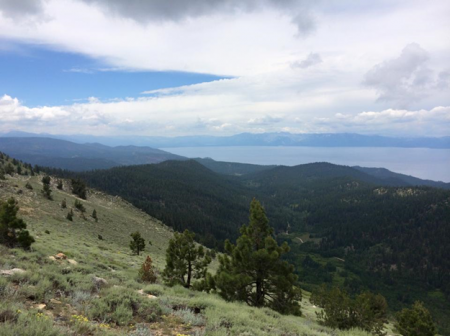 View of Lake Tahoe from Snow Valley during training on July 12th (Photo by Marilyn Oberhardt)