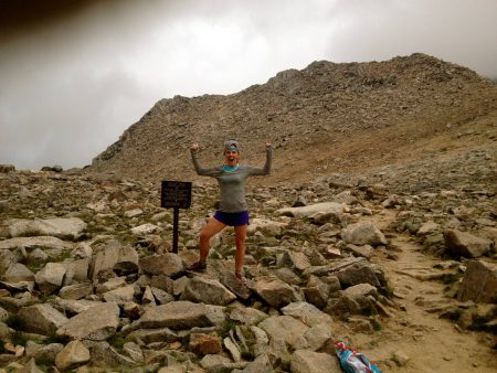 Audrey made bishop pass look easy. With almost 50 miles on the legs she made quick work of it. Ya she was fired up about!
