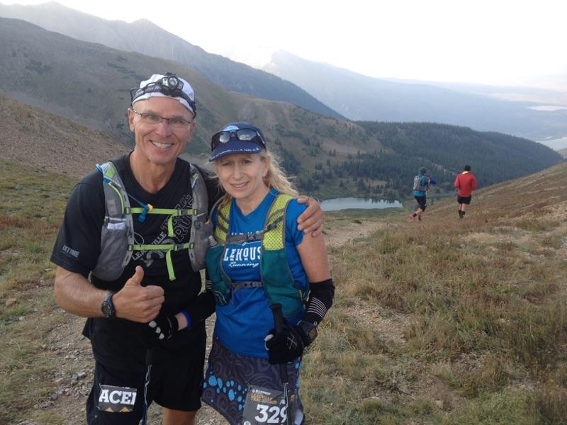 Tom and Karen at Hope Pass (Photo courtesy Karen Framnes)