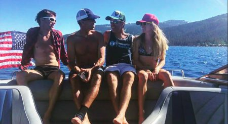 You will find me here, Lake Tahoe w Josh, Dan and Anna Mae photo: Anna Mae