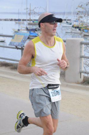 Greg at the Monterey Bay half marathon. Photo: Curtis Haupert