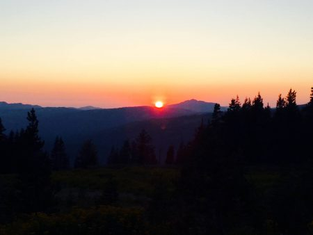 Sunset on a long run