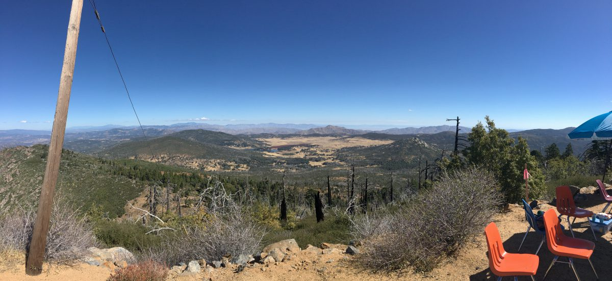 Aid Station at Cuyamaca Peak
