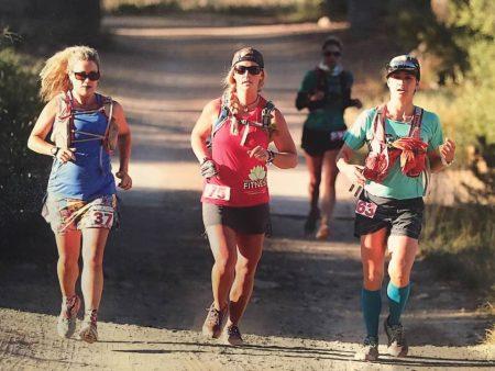 Kristin, Tessa, and Mone' at the Sierra Crest 50k