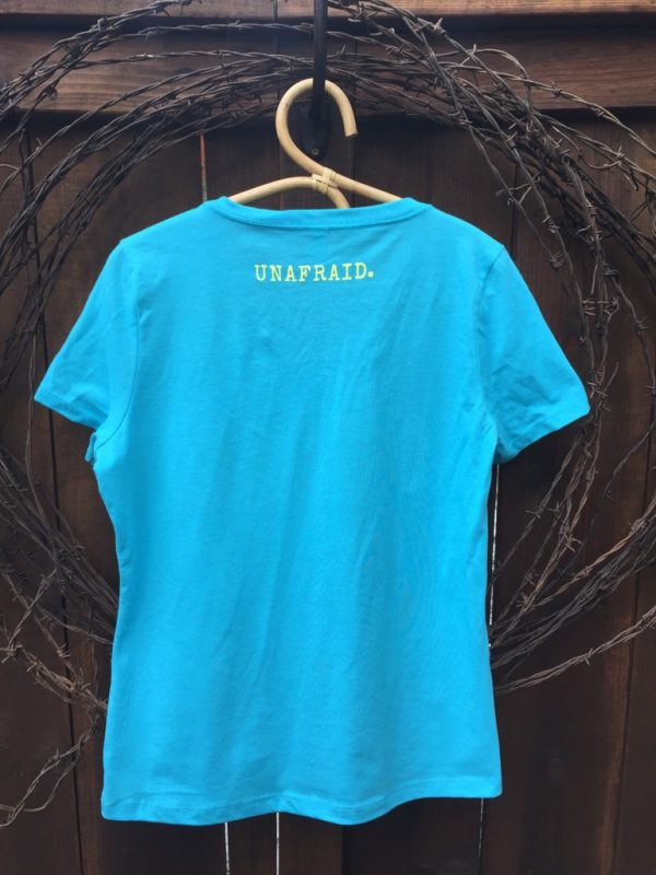 DMPR Women's blue tee - back